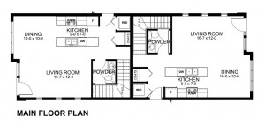 plano de casa de dos pisos