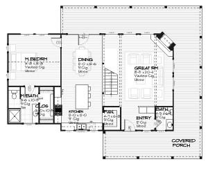plano de casa de madera gratis