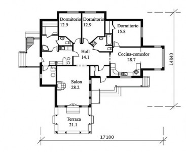Planos casas de madera - Planos casa madera ...