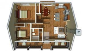 plano de casa en 3d