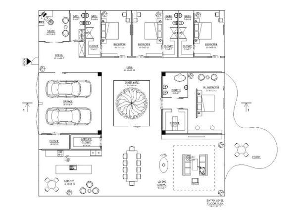 Planos de casas minimalistas for Plano casa minimalista 3 dormitorios