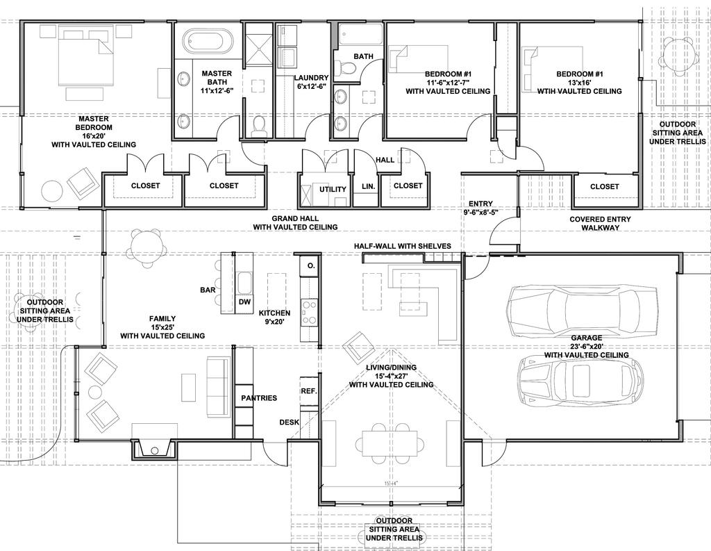Planos de casas modernas de un piso for Plano casa un piso