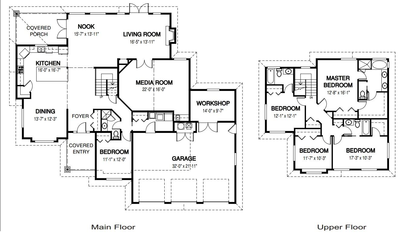 Medidas ba o casa habitacion for Planos de casa habitacion