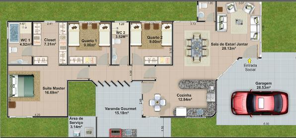 Planos de casas sencillas for Plano de cocina sencilla