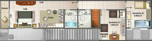 Planos de casas de 3 dormitorios y dos niveles for Diseno de casa de 9 x 12