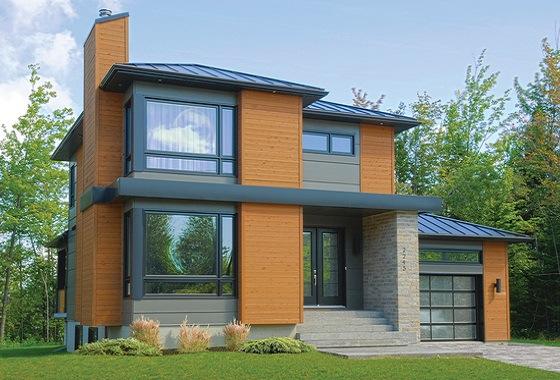 planos de casas modernas de 2 pisos