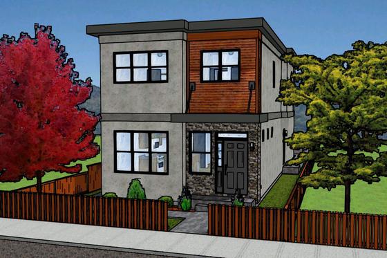 Planos para casas de dos pisos Departamentos de dos pisos
