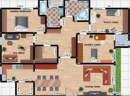 Diseñar un plano de una casa facilmente