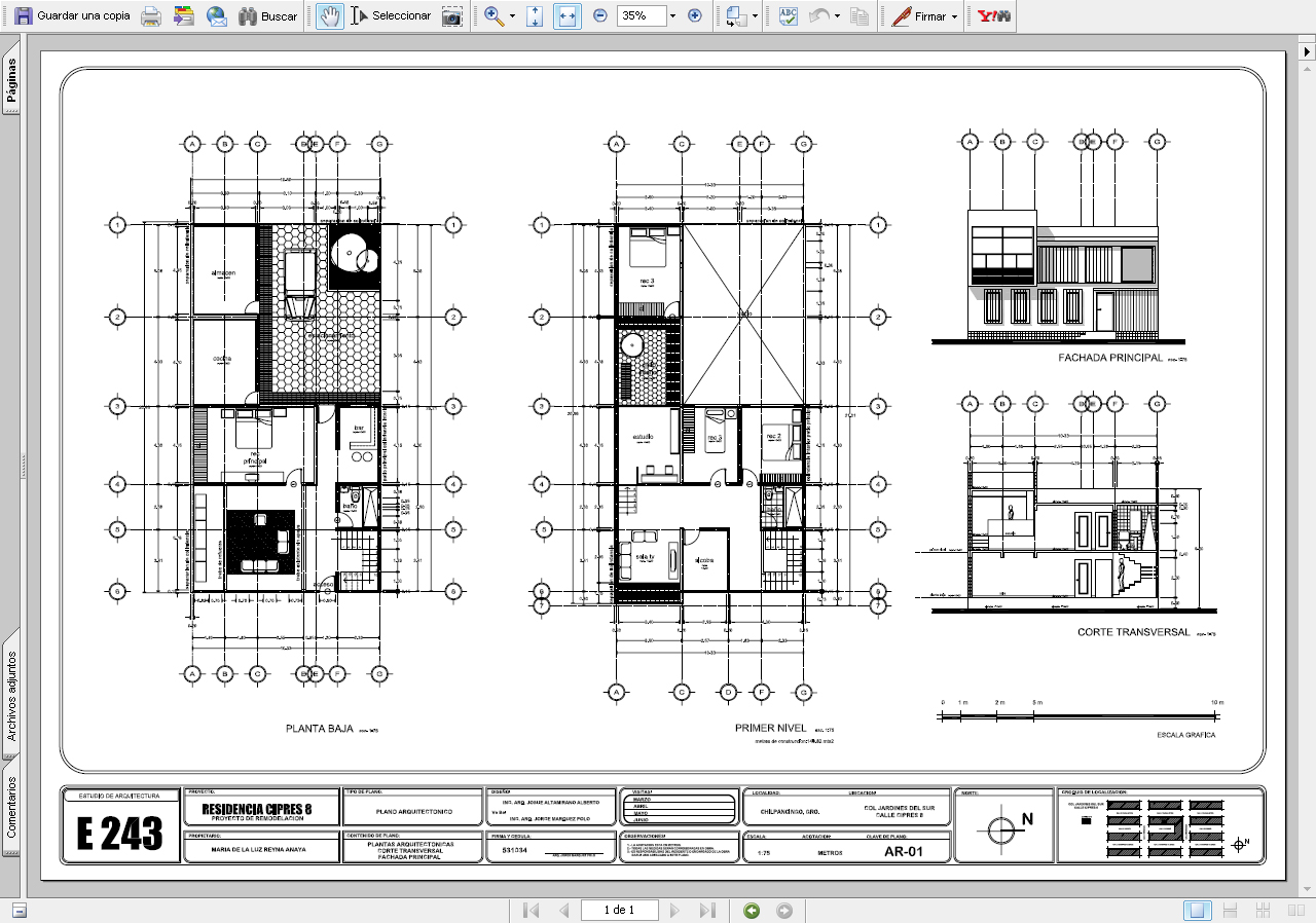 Dise ar un plano en autocad - Programa para planos de viviendas ...