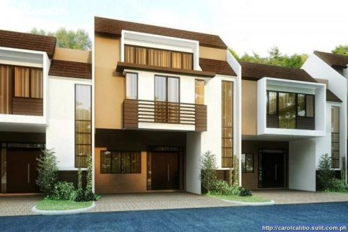 fachadas para casas de dos pisos
