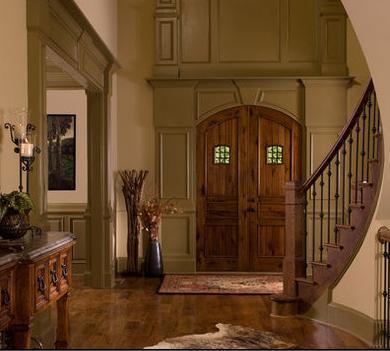 Fotos de puertas de madera exterior for Disenos de puertas de madera