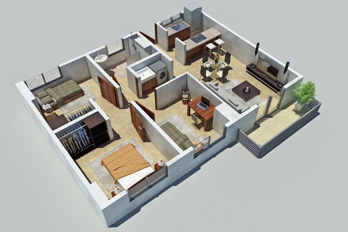 Planos 3d gratis for Crear planos de casas 3d