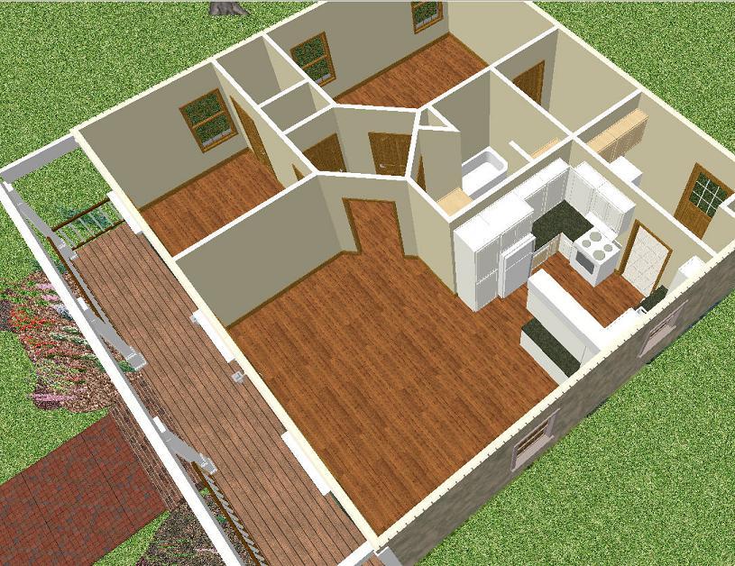 Planos 3d gratis for Planos de casas de campo gratis