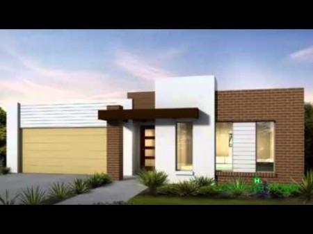 Fachadas para casas de una planta.