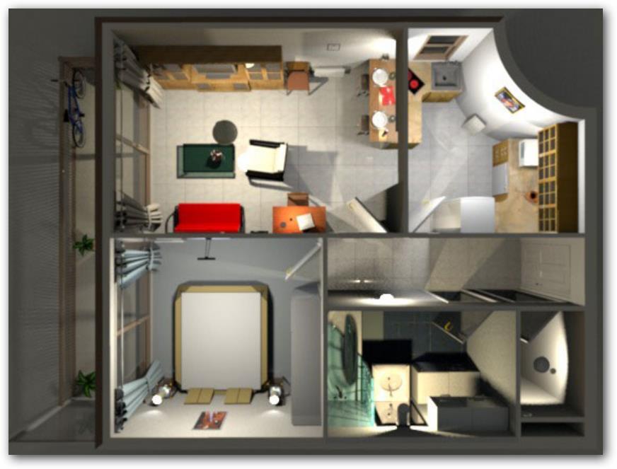 Planos 3d gratis for Programa para crear espacios interiores