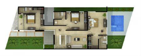 Planos arquitectónicos de casas de dos plantas online