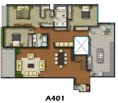 Planos de casas de 3 recamaras - Planos de casas de una planta ...