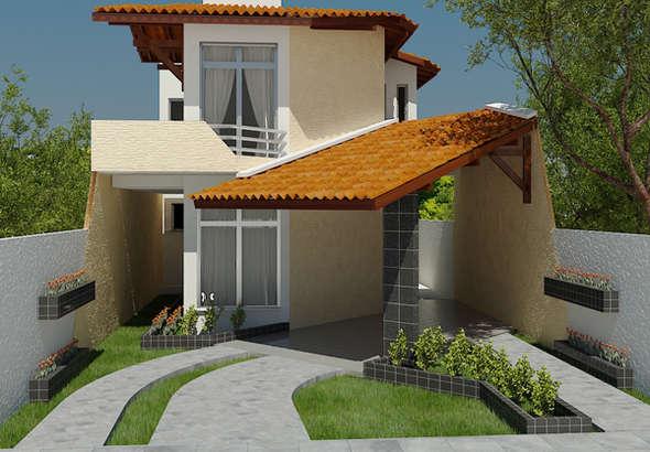 Planos de casas de dos pisos modernas for Planos de casas de dos pisos