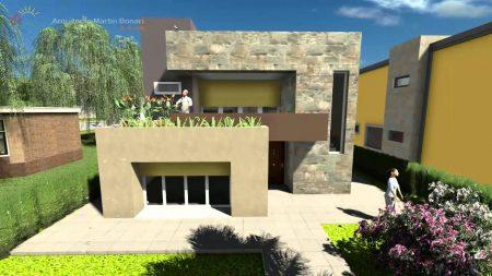Planos de casas de dos pisos modernas, imágenes
