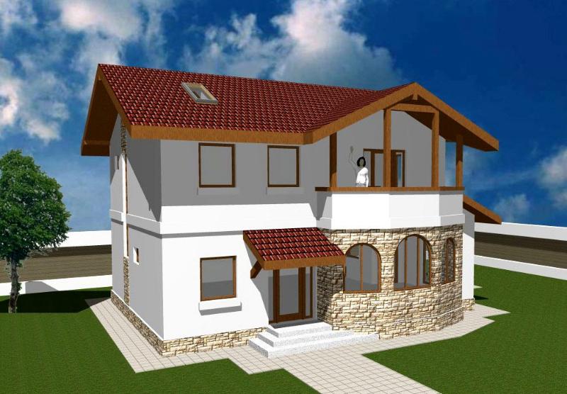 Planos de casas de dos pisos modernas for Modelos de techos para casas de dos pisos