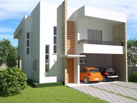 Fachadas de casas de dos pisos online