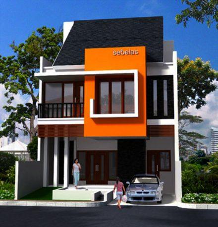 Fachadas de casas de dos pisos sencillas for Fachadas oficinas minimalistas