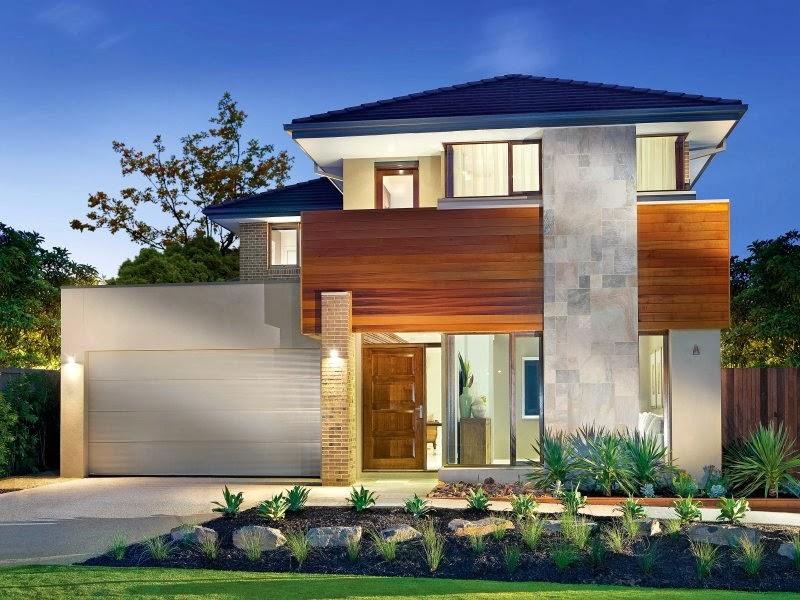 Planos de fachadas de casas de dos pisos modernas - Planos chalets modernos ...