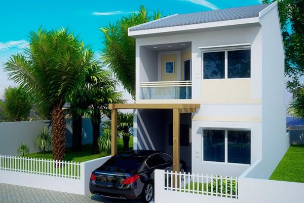 Ver fachadas de casas de 2 pisos for Fachadas de casas pequenas de 2 pisos