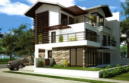 Ver fachadas de casas de 2 pisos for Fachadas de casas de 3 pisos