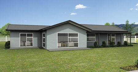 Fachadas de casas de campo de un piso gratis
