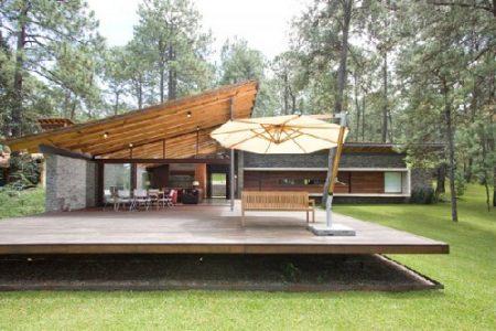 Fachadas de casas de campo de un piso para descargar