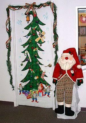 Como decorar las puertas en esta navidad for Como decorar una puerta en navidad