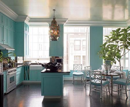 cocinas modernas azules
