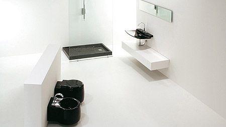 Baños blanco con negro