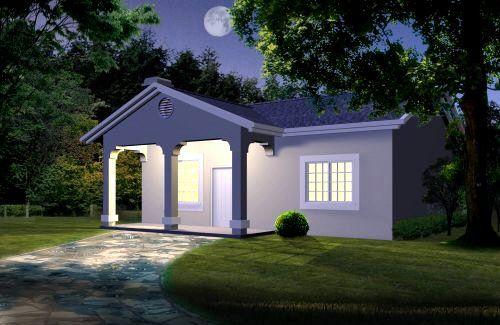 Peque a casa de 1 habitacion - Casas de 1 piso bonitas ...