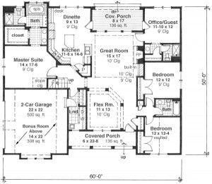 plano-planta-baja 5 habitaciones