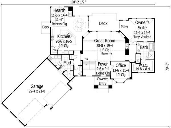 Plano Casa Lujosa