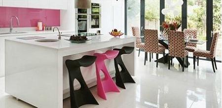 Cocinas modernas rosas