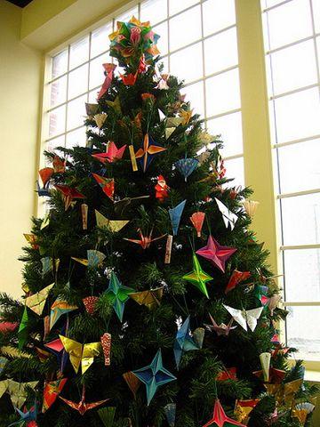 Arbol de navidad con origami