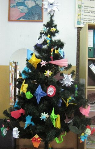 Navidad origami