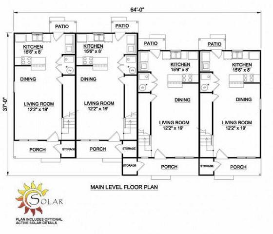 Plano de duplex de campo - Pasar de metros a metros cuadrados ...