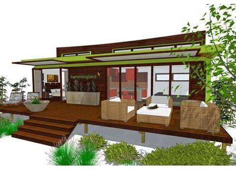 Plano casa moderna vacaciones