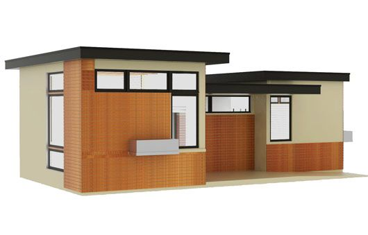 Plano de casa peque a de 1 dormitorio for Diseno de apartamentos para estudiantes