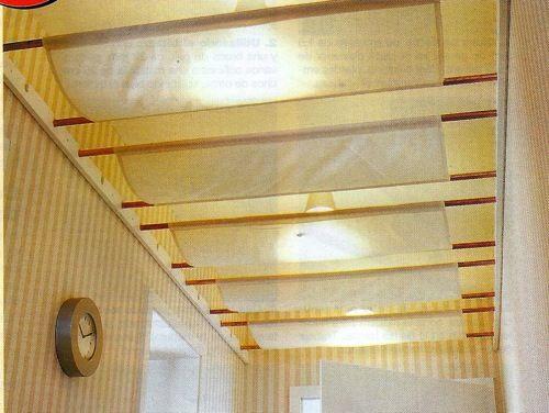 techo de tela falso