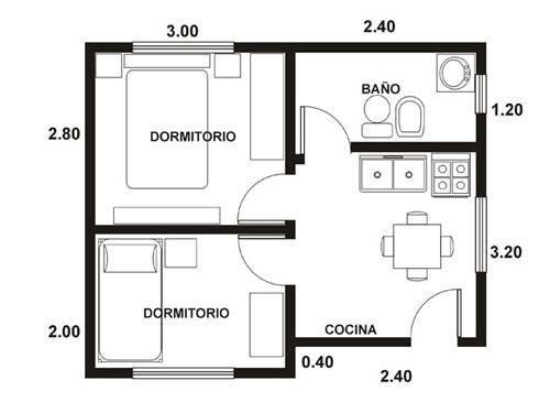 Casa super peque a de 26 metros cuadrados for Planos de apartamentos modernos