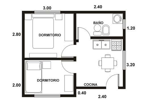 Casa super peque a de 26 metros cuadrados for Baneras pequenas medidas
