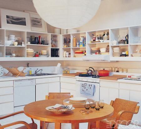 estantes para cocina