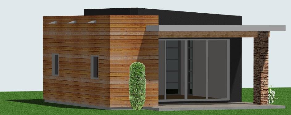 Oficina minimalista 2 for Casa minimalista planos