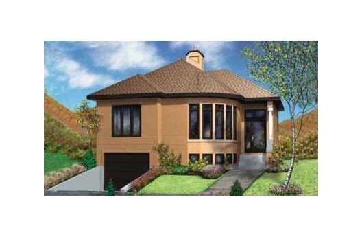 Planos casa moderna con 2 dormitorios y garaje para 1 vehiculo for Planos de casas 1 planta