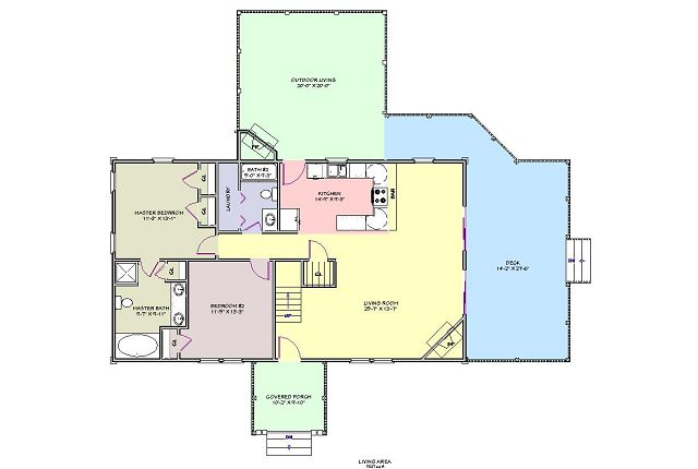 Plano de Casa de montaña muy espaciosa